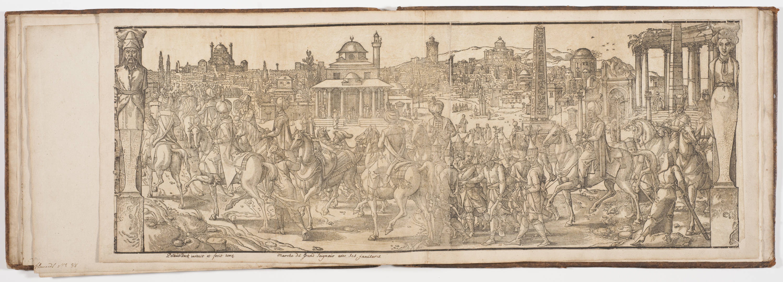 Fig. 3 Pieter Coeke van Aelst the Elder, Suleiman the Magnificent Parading in the Ruins of the Ancient Hippodrome, from the series Les moeurs et fachons de faire de Turcs, woodcut, 1553.