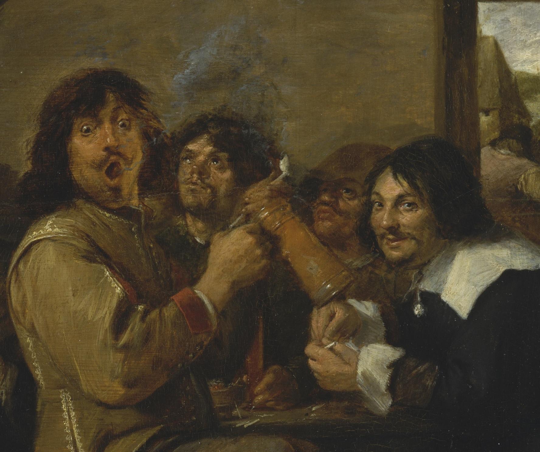 The Smokers (detail), ca. 1636, Metropolitan Museum, New York