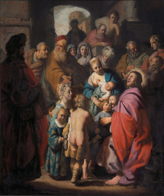 Rembrandt (?) (1606-1669), Let the Children Come to Me, ca. 1620-30 Private Collection,