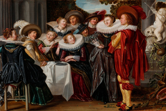 Dirck Hals (1591-1656), Merry Company on a Terrace (detail), 1623 Toledo Museum of Art, Toledo