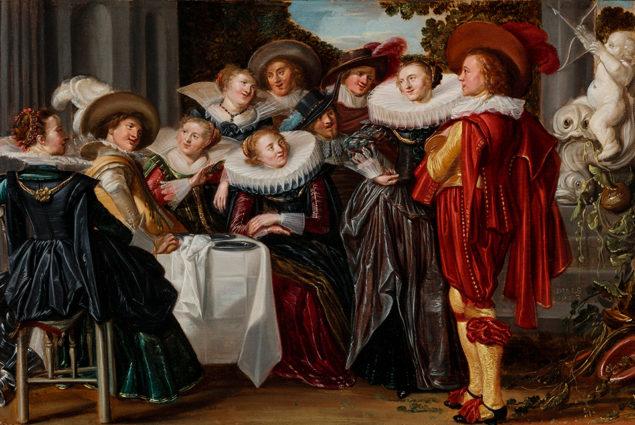 Dirck Hals (1591-1656), Merry Company on a Terrace (detail), 1623 Toledo Museum of Art, Toledo
