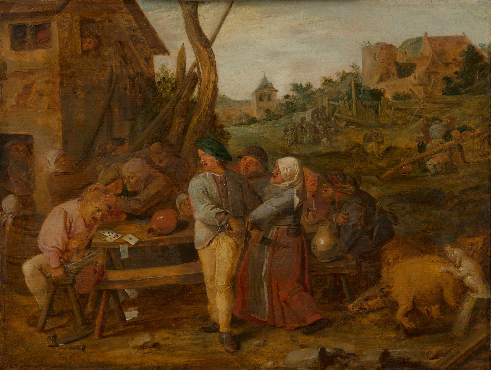 Fighting Peasants, ca. 1625-26, Mauritshuis,The Hague