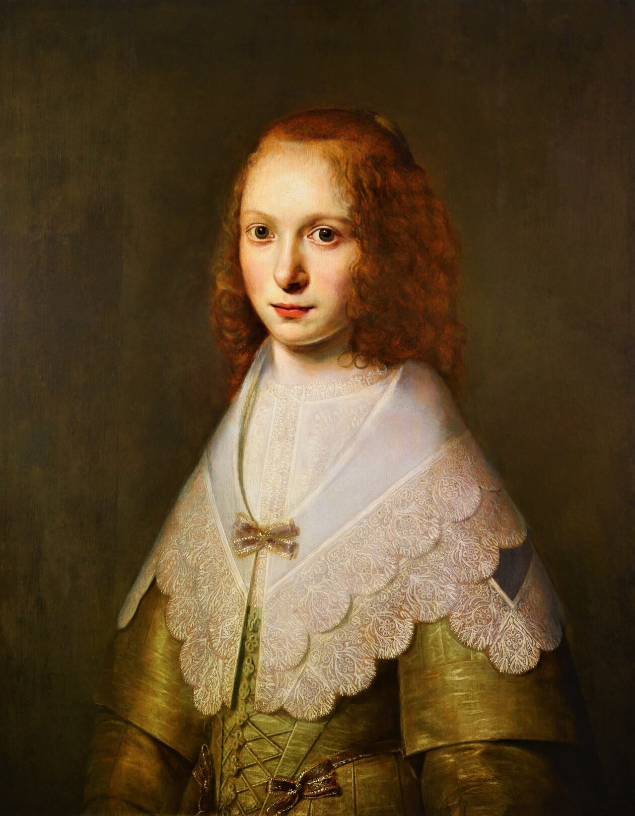 Pieter Hermansz. Verelst (1608-1675), A Portrait of a Young Girl, Signed and dated 'P. VERELST: 1642:'
