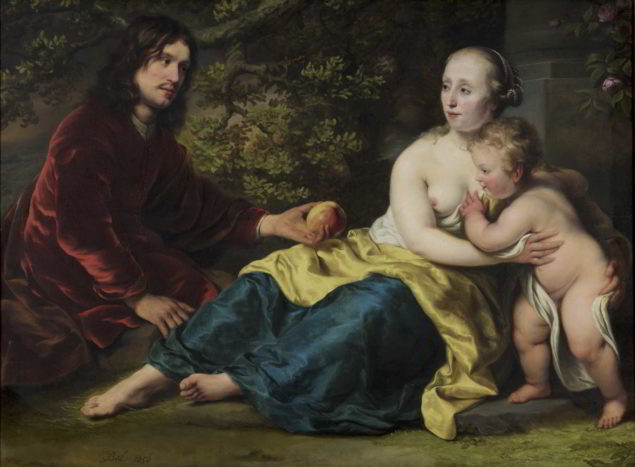 Ferdinand Bol (1616-1680), <em>Portrait of Wigbold Slicher and Elisabeth Spiegel as Paris and Venus</em>, 1656 Dordrechts Musuem, Dordrecht