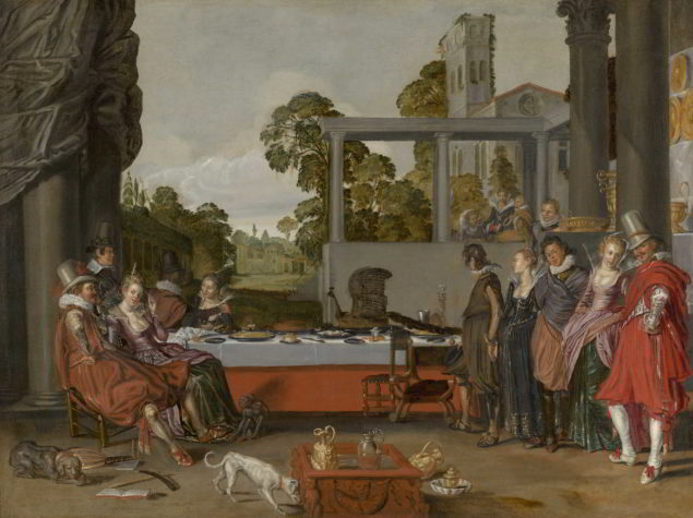 Willem Buytewech (active ca. 1606-1624) Merry Company on a Terrace, ca. 1616–17 Mauritshuis, The Hague