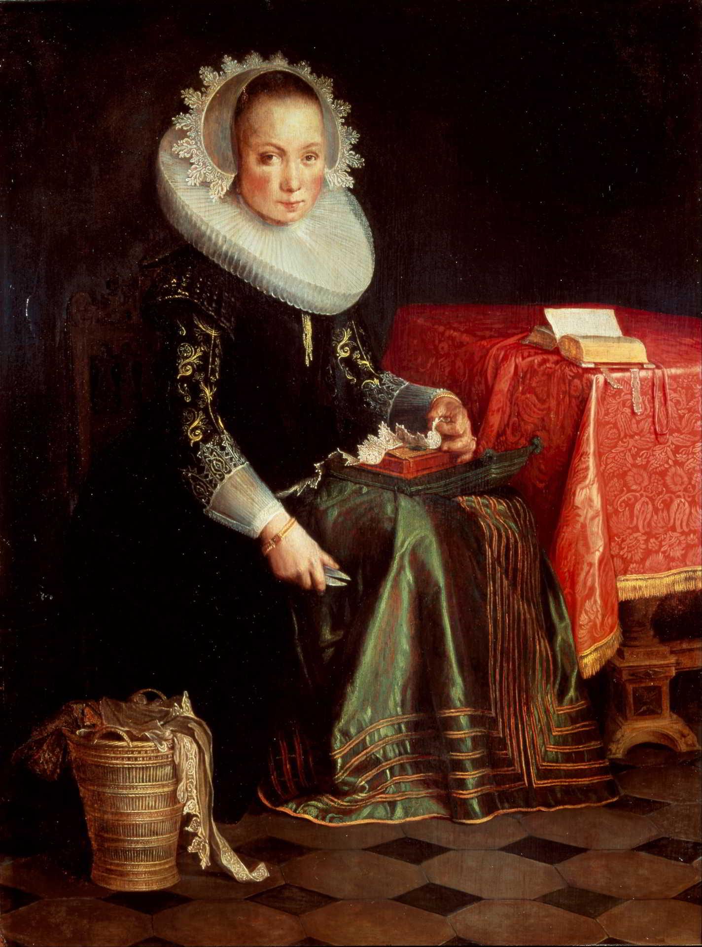 Joachim Wtewael (166-1638), <em>Portrait Eva Wtewael (1607-1635)</em>, 1628 Centraal Museum, Utrecht