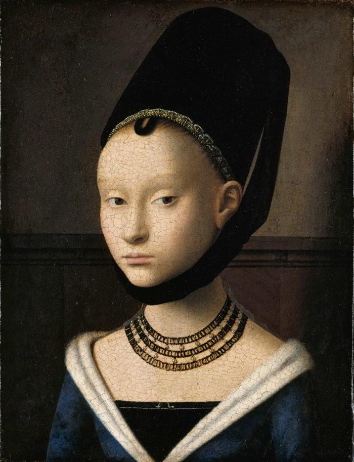 Petrus Christus (ca. 1410/1420 - 1475), Portrait of a Young Woman (detail), ca. 1470 Gemäldegalerie, Staatliche Museen zu Berlin