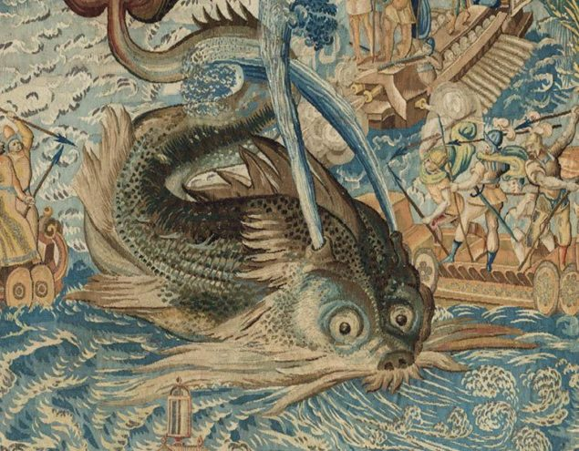 Master MGP (Brussels), <em>Whale</em> (detail), from the Valois Tapestries, ca. 1576 Gallerie degli Uffizi, Florence