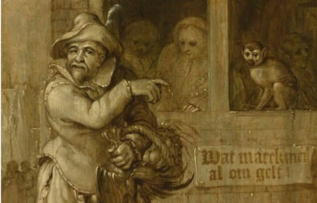 "Adriaen Pietersz. van de Venne (1589-1662), <em>Wat Maeckmen Al Om Gelt</em> (""What One Does for Money"", detail), 1627 Private collection"