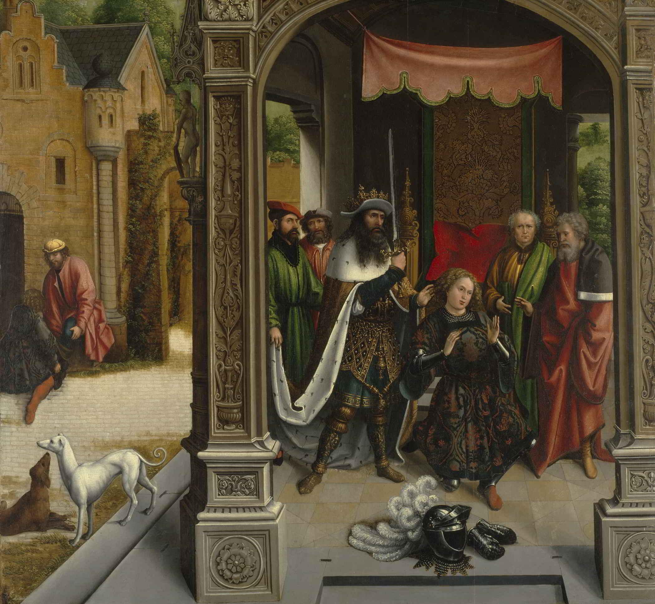Bernard van Orley (1487-1541), The Knighting of Saint Martin by the Emperor Constantine, ca. 1514 Nelson-Atkins Museum of Art, Kansas City