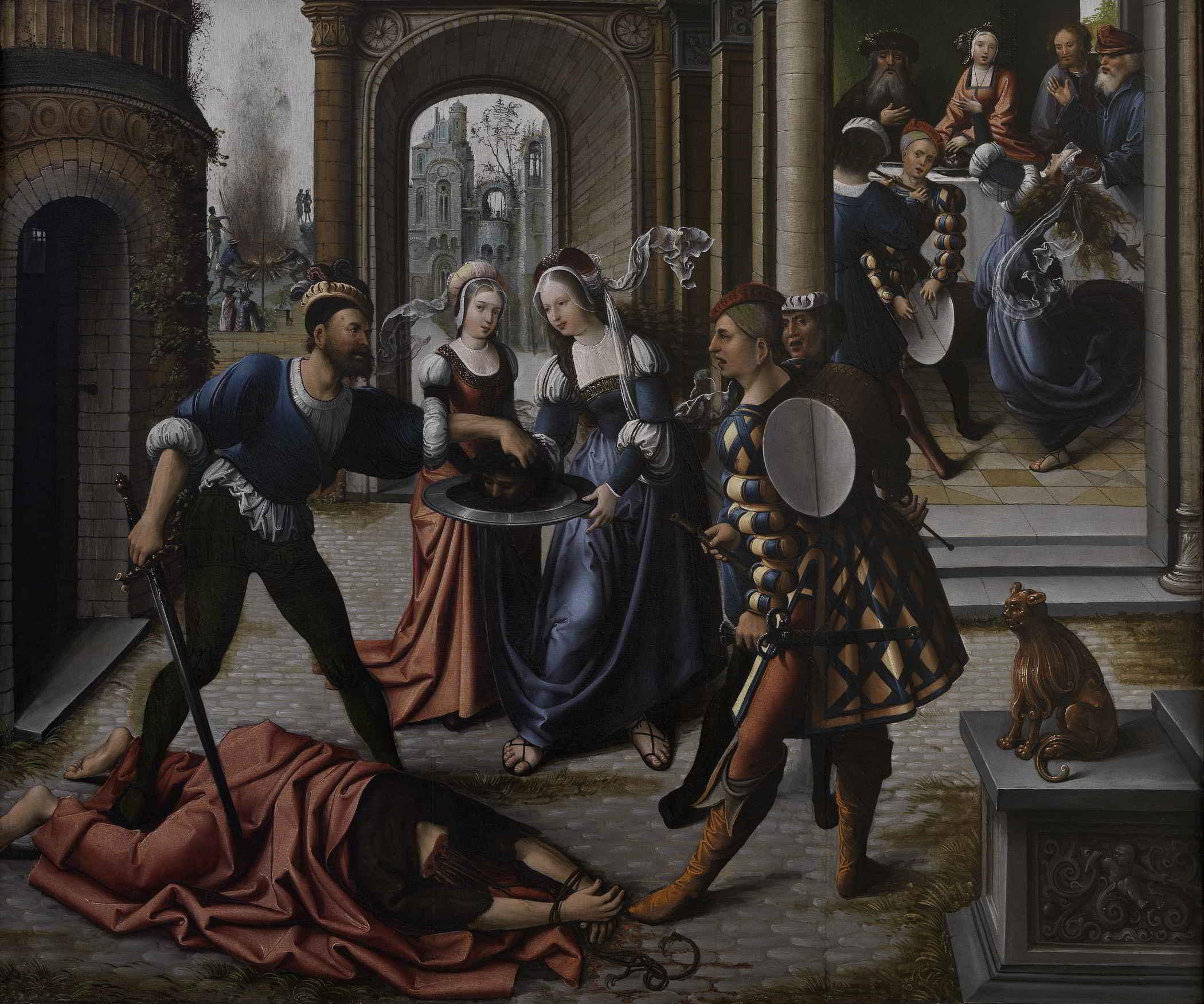 Bernard van Orley (1487-1541), Martyrdom of St John the Baptist, ca 1514 Metropolitan Museum, New York ( Promised Gift of Hester Diamond)