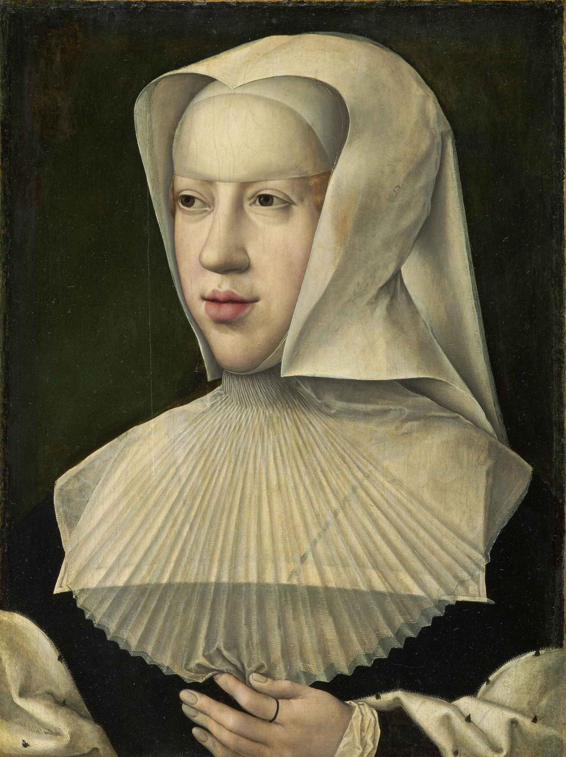 Bernard van Orley (1487-1541), Portrait de Marguerite d'Autriche Royal Museums of Fine Arts Belgium, Brussels