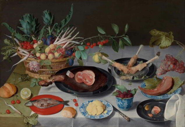 Jacob van Hulsdonck (1582–1647), Still Life with Meat, Fish, Vegetables, and Fruit, ca. 1615–20 Cleveland Museum of Art, Cleveland