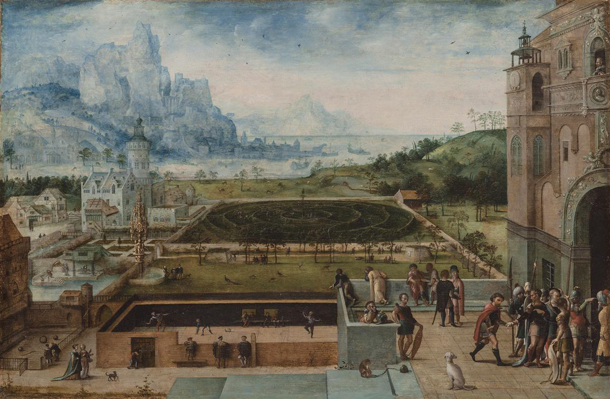 Lucas Gassel (ca. 1480 -1568), Courtly Grounds with Scenes from the Story of David and Bathsheba, 1520-1568 Wadsworth Atheneum Museum of Art, Hartford