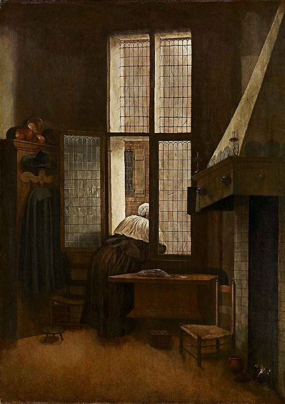 Jacobus Vrel (act. ca. 1650-1670), Woman at the Window, 1654, Kunsthistorisches Museum, Vienna