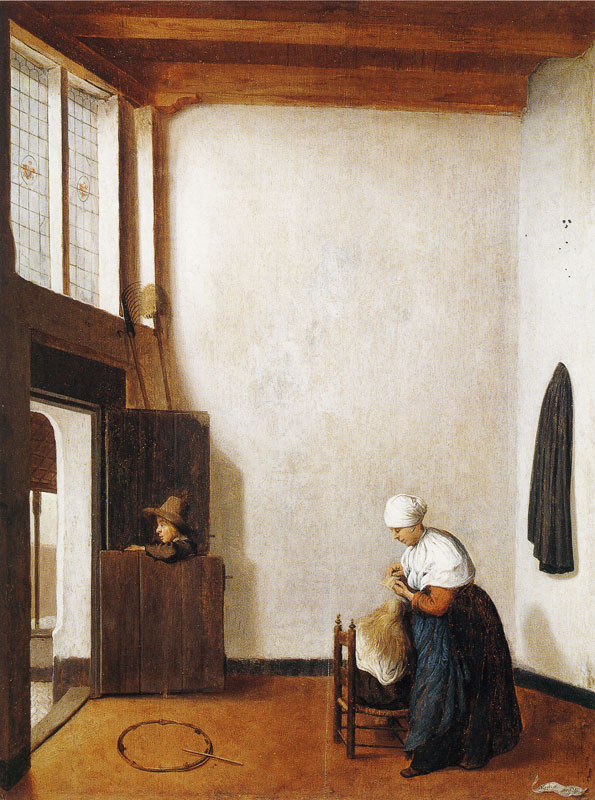 Jacobus Vrel (act. ca. 1650-1670), Interior with a Woman Combing a Little Girl's Hair, The Detroit Institute of Arts, Detroit