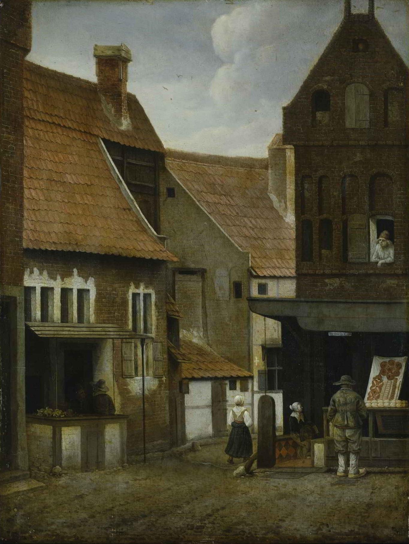 Jacobus Vrel (act. ca. 1650-1670), <em>Street Scene</em>, Hamburger Kunsthalle, Hamburg