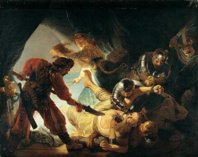 Rembrandt (1606-1669), The Blinding of Samson, 1636.Staedelsches Kunstinstitut, Frankfurt am Main