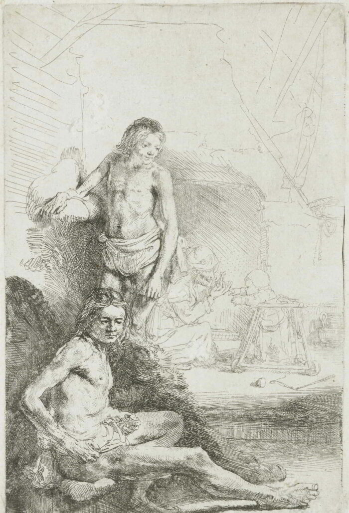 Rembrandt van Rijn (1606-1669), <em>A Young Man, Sitting and Standing</em>, 1644-1648) Rijksmuseum, Amsterdam