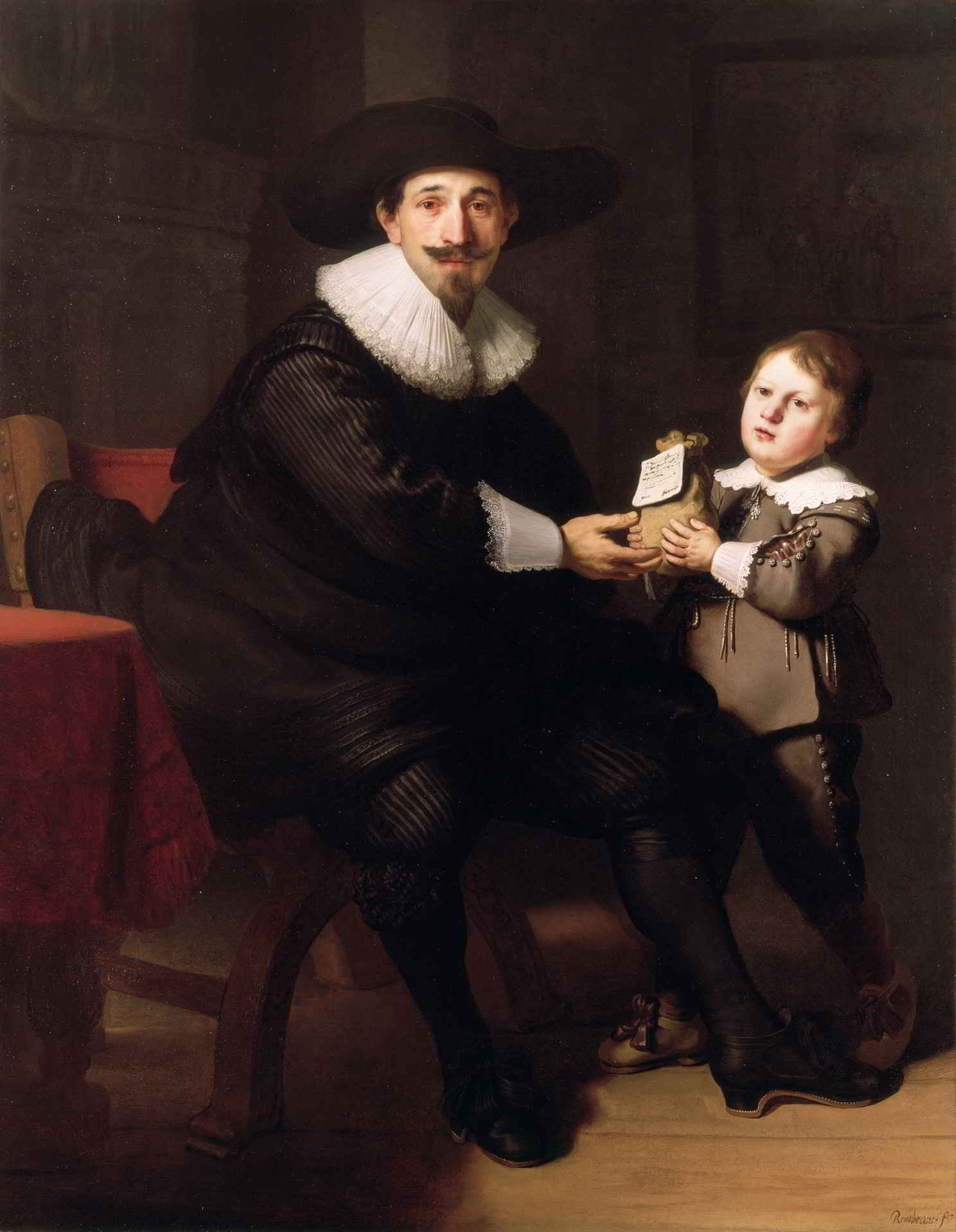 Rembrandt van Rijn (1606-1669) and workshop, <em>Jean Pellicome with his son Caspar</em>, ca. 1632 Wallace Collection, London