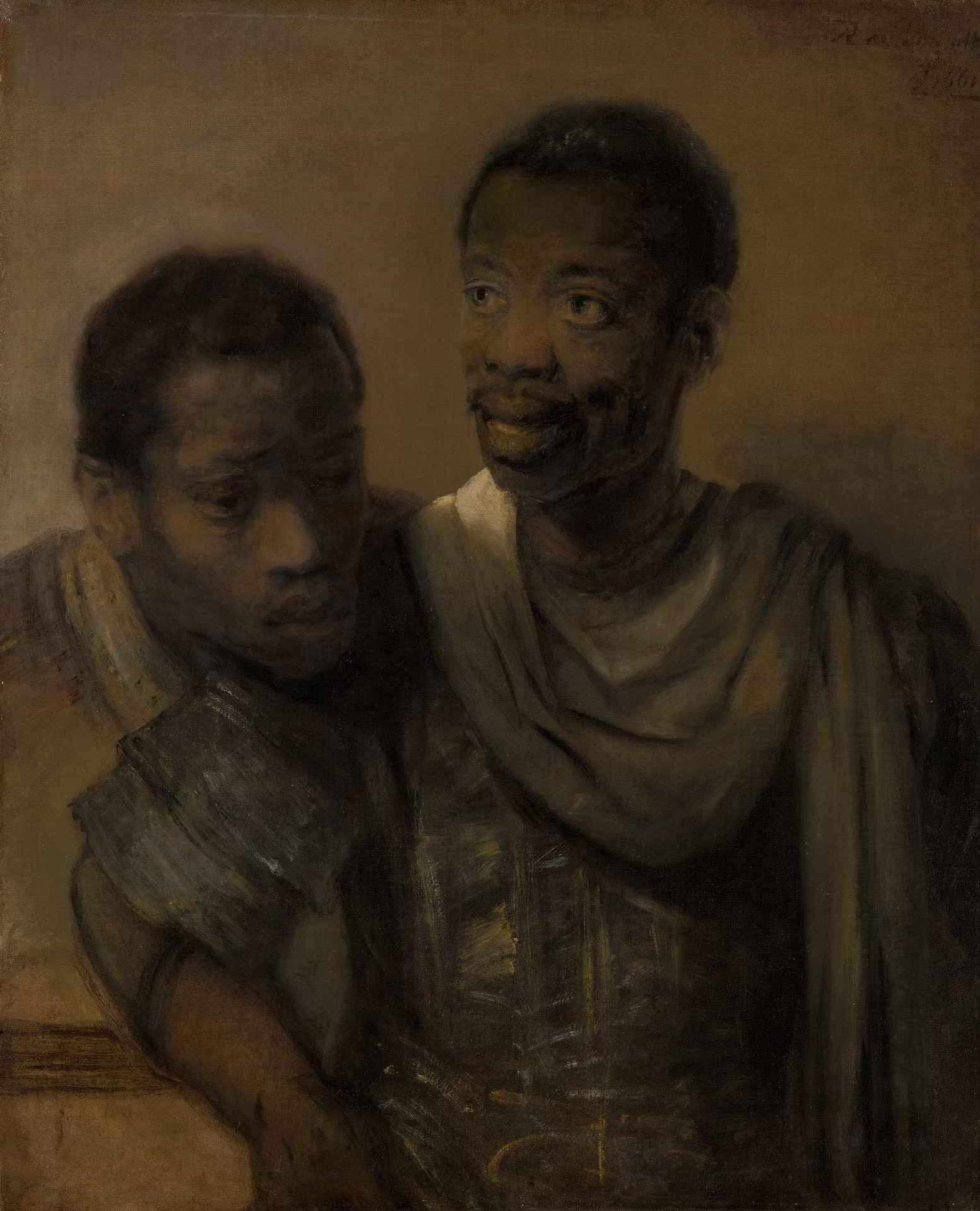 Rembrandt van Rijn (1606-1669), <em>Two African Men</em>, 1661 Mauritshuis, The Hague