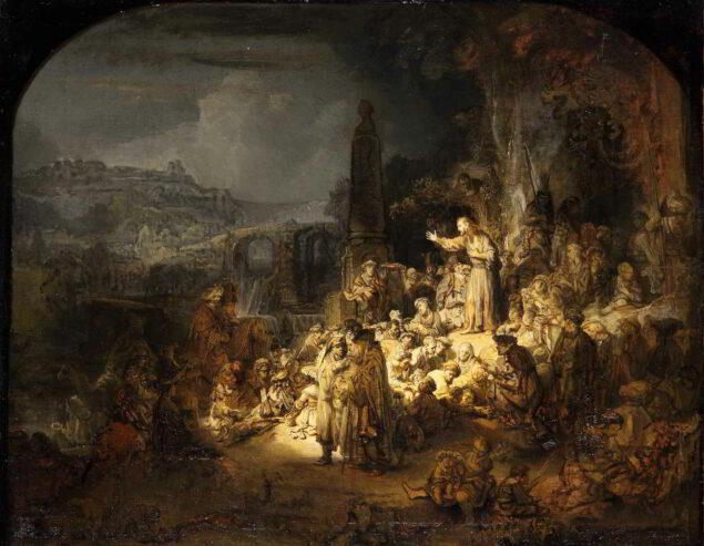 Rembrandt van Rijn (1607-1669), John the Baptist Preaching, ca. 1634-1635 Gemäldegalerie (Staatliche Museen), Berlin