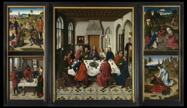 Dirk bouts (ca. 1410-1475), <em>The Last Supper</em>, 1464-68 Saint-Peter's Church, Leuven