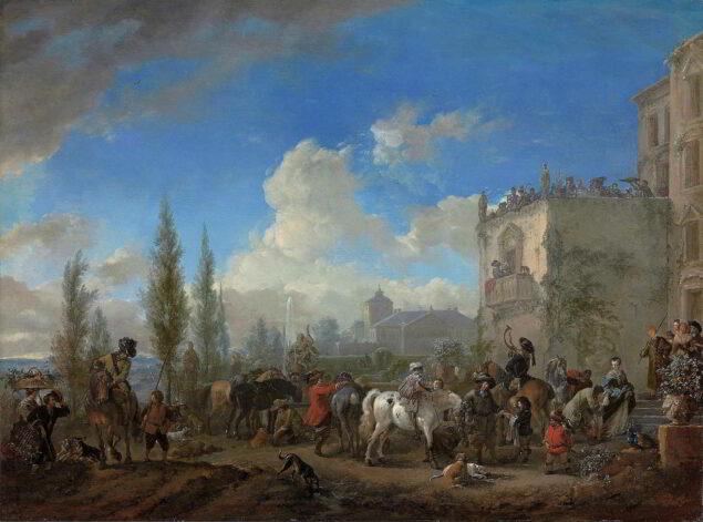 Philips Wouwermans (1619-1668), The Departure for the Hunt, ca. 1665–68 National Gallery of Art, Washington