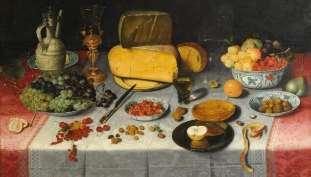 Floris Claesz. van Dyck (1575-1651), <em>Still Life with Fruit and Olives (detail)</em>, ca. 1600 Grasset Collection