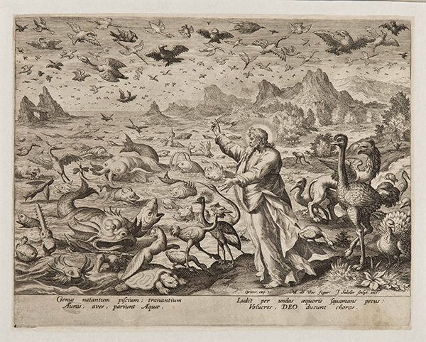 Johan Sadeler after Maerten de Vos, <em>Creation of Birds and Marine Animals, ca. 1588-1600, National Museum in Belgrade