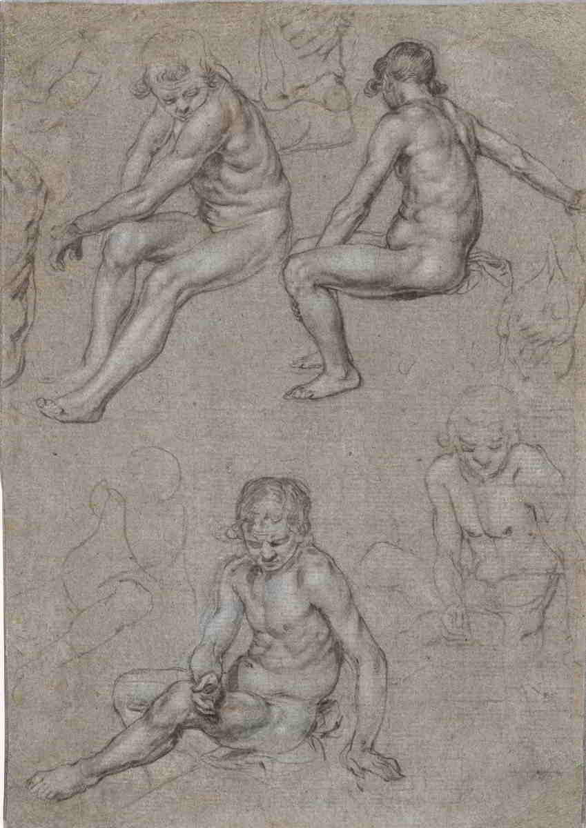Jacques de Gheyn II (1565–1629), <em>Studies of a Naked Seated Boy</em>, ca. 1603 The Cleveland Museum of Art, Cleveland