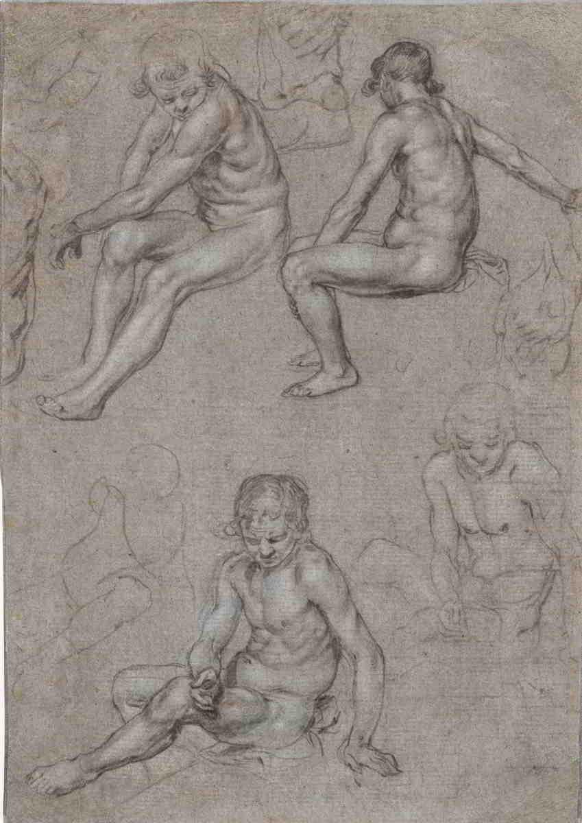 Jacques de Gheyn II (1565–1629), <em>Studies of a Naked Seated Boy</em>, ca. 1603 The Cleveland Museum of Art, Cleveland