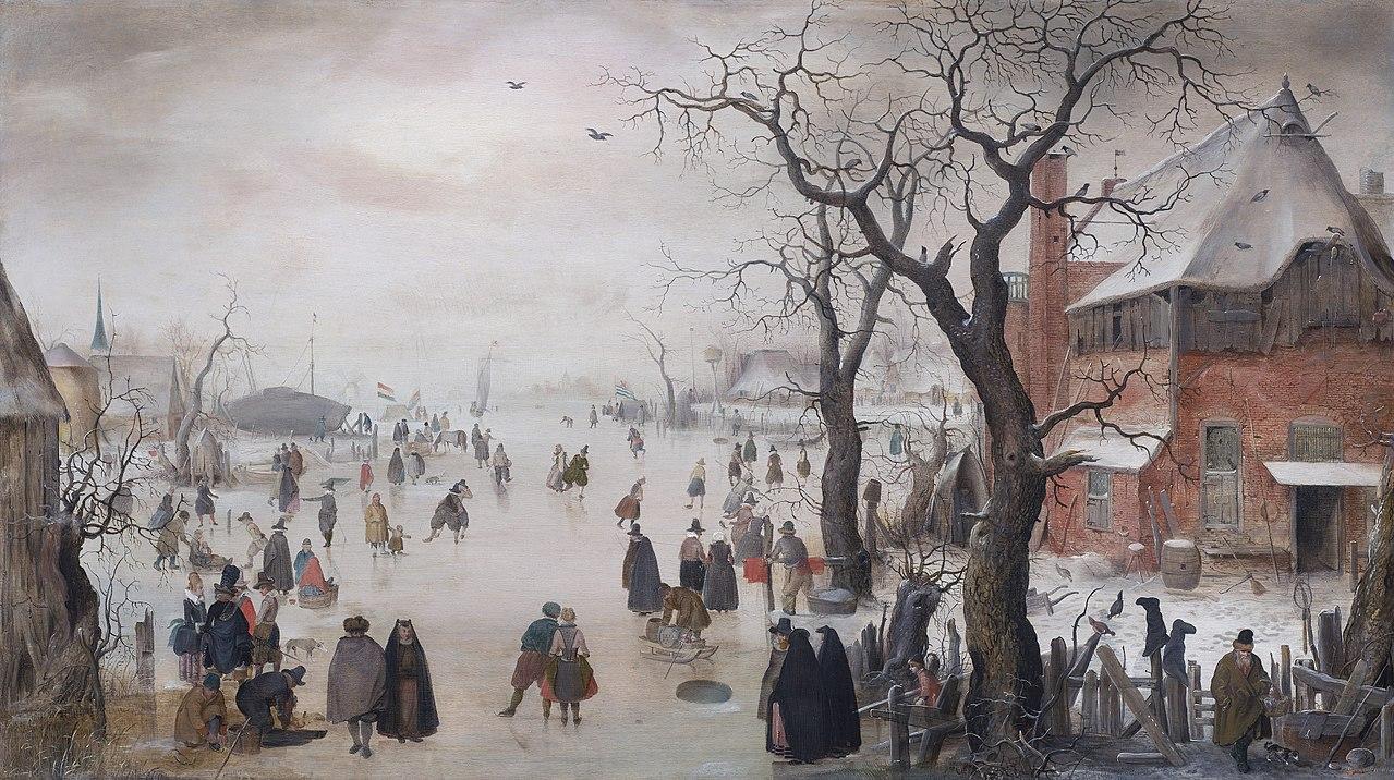 Hendrick Avercamp (1585-1634), Winter Landscape near a Village, ca. 1610-15 Museum of Fine Arts (promised gift of Rose-Marie and Eijk van Otterloo), Boston