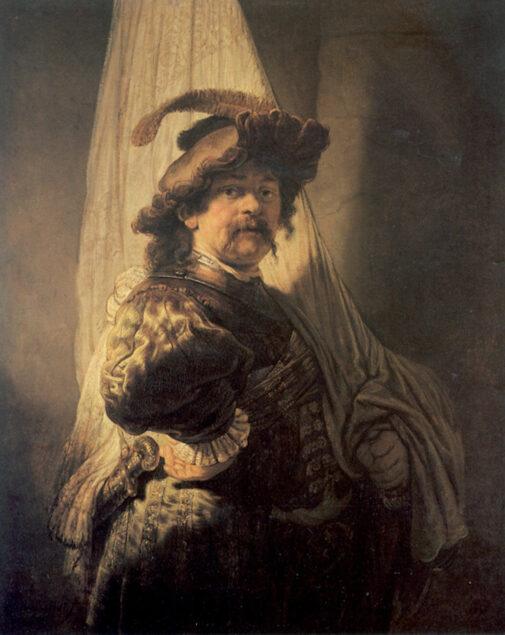 Rembrandt (1606-1669), <em>The Standard Bearer</em>, 1636 The Rothschild Collection, France