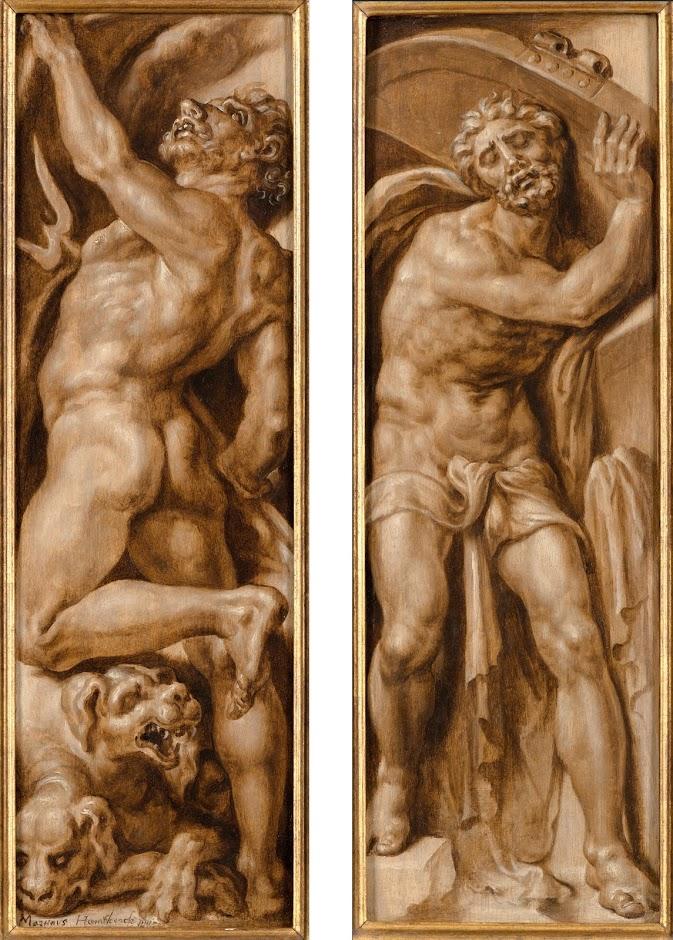 Maarten van Heemskerck (1498-1574), <em>Pluto and Cerberus; Samson Grasping the Gates of Gaza</em>, ca. 1555 Rijksmuseum, Amsterdam