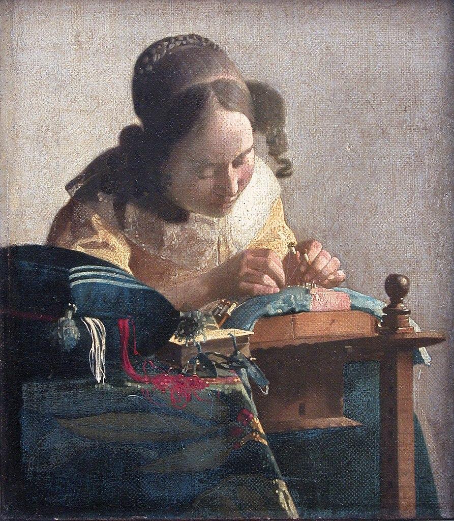 Johannes Vermeer (1632-1675), <em>The Lacemaker</em>, 1669-70 Musée du Louvre, Paris