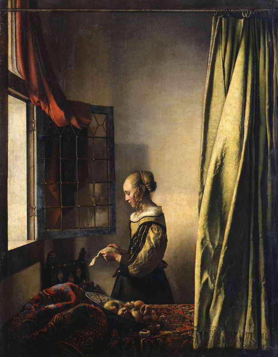 Johannes Vermeer (1632-1675), Girl Reading a Letter at an Open Window, ca. 1657-59 Gemäldegalerie Alte Meister, Dresden