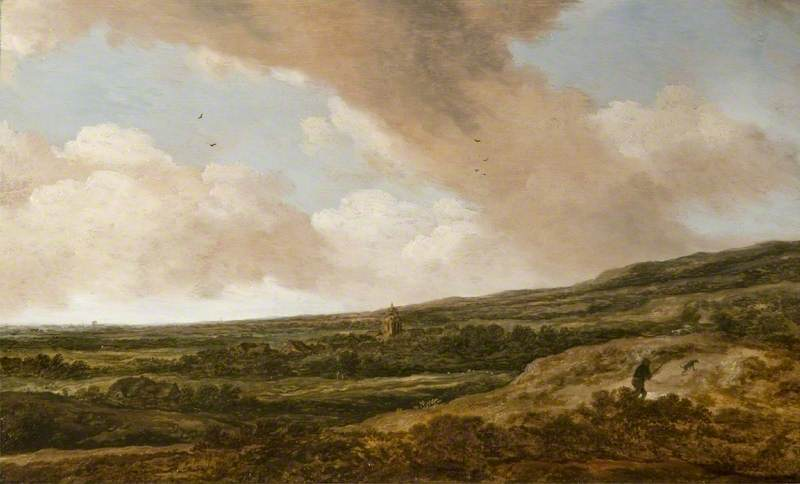 Pieter Molyn (1595–1661), <em>Landscape with a Huntsman</em> The Barber Institute of Fine Arts, Birmingham