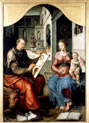 Maarten van Heemskerck Saint Luke Painting the Virgin, ca. 1553 Musée des Beaux-Arts, Rennes