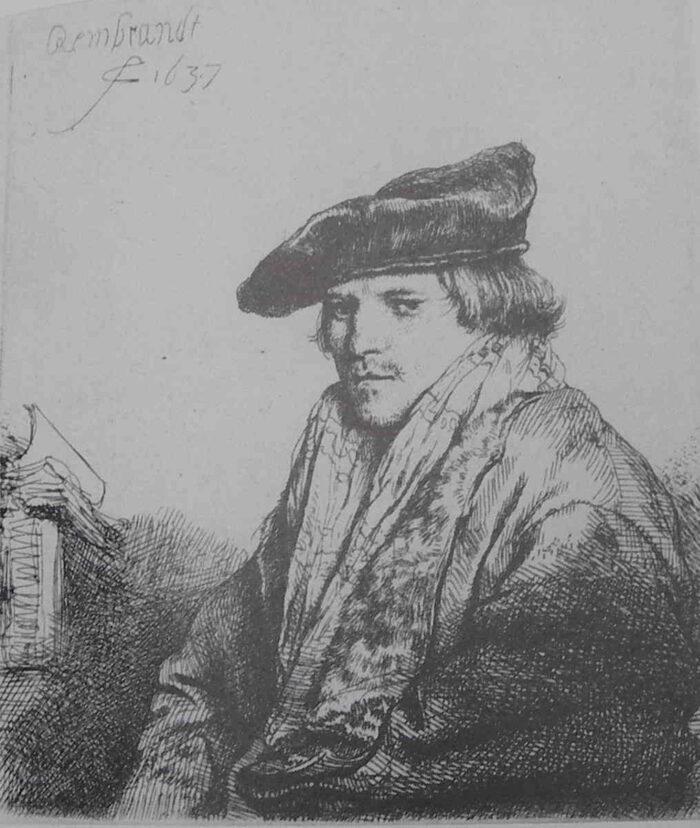 Rembrandt (1606-1669) Young Man with a Velvet Barret (Preacher Petrus Sylvius?) 1637 Rijksmuseum, Amsterdam