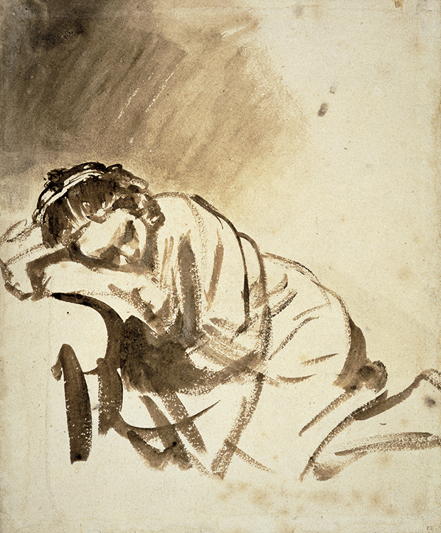 Rembrandt (1606-1609), Woman Sleeping, ca. 1654 The British Museum, London