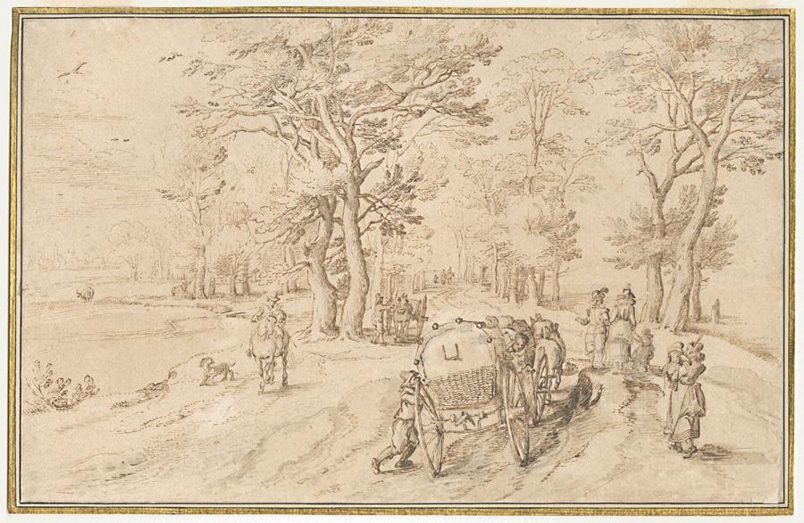 Jan Brueghel I (1568–1625), <em>A Coach on a Country Road</em>, ca. 1589-1625 Museum Plantin-Moretus, Antwerp