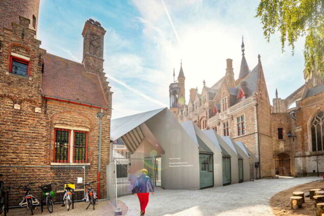 The new pavilion at the courtyard of the museum Photo: Inge Kinnet (courtesy of the museum)