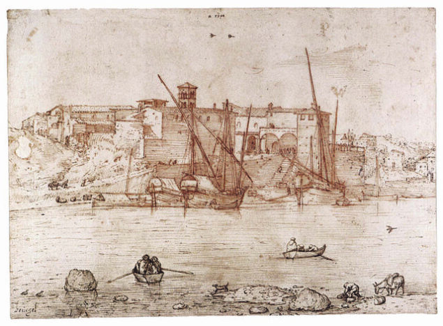 Pieter Bruegel the Elder (1526/1530–1569) View of the Ripa Grande in Rome, ca. 1552-54 The Duke of Devonshire and the Chatsworth Settlement Trustees, Chatsworth