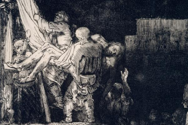 Rembrandt (1606-1669), <em>The Descent from the Cross</em> (detail), 1654 The Ashmolean Museum, Oxford