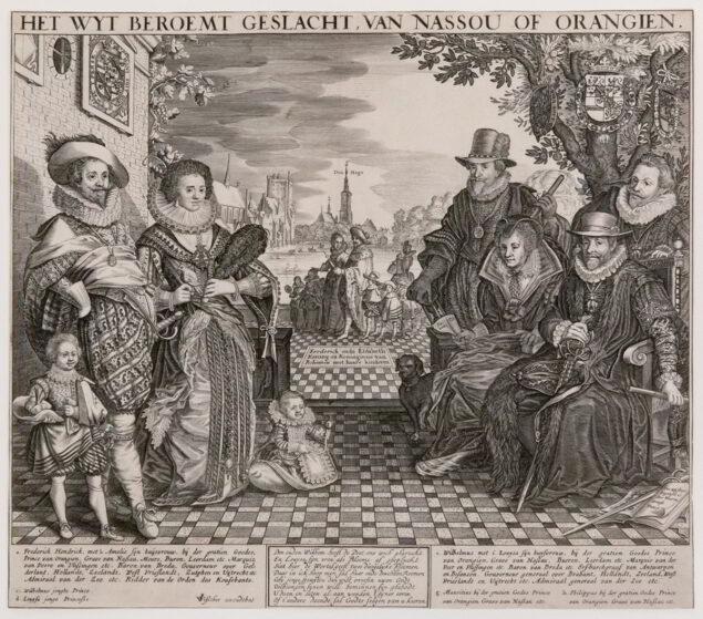 Claes Jansz Visscher (1587–1652), <em>The Far-famed House of Nassau or Orange</em>, ca. 1628–1629 Krannert Art Museum, Champaign, IL