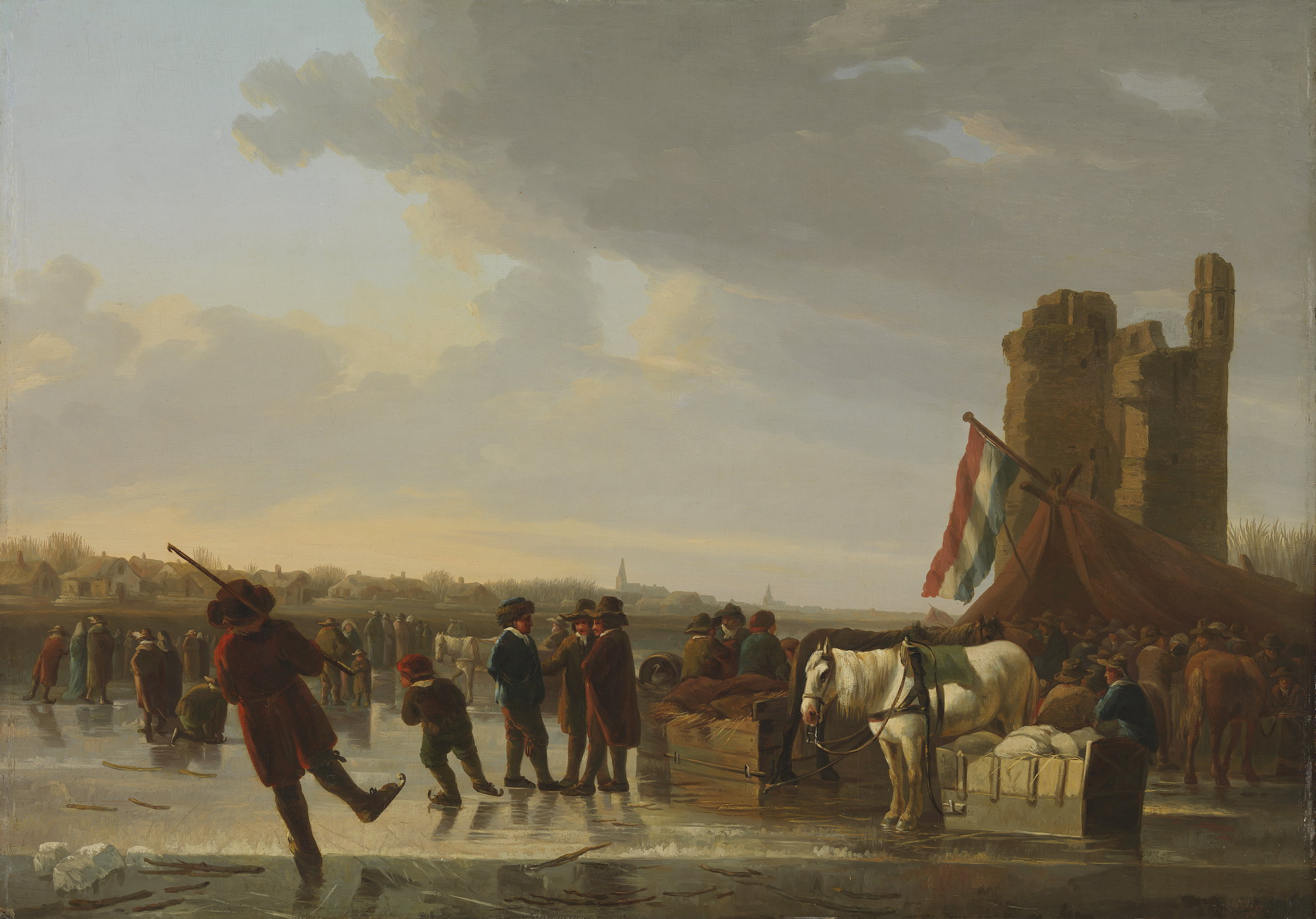 Copy after Albert Cuyp, <em>On the Ice</em>, ca. 18th/19th century Bayerische Staatsgemäldesammlungen, Munich