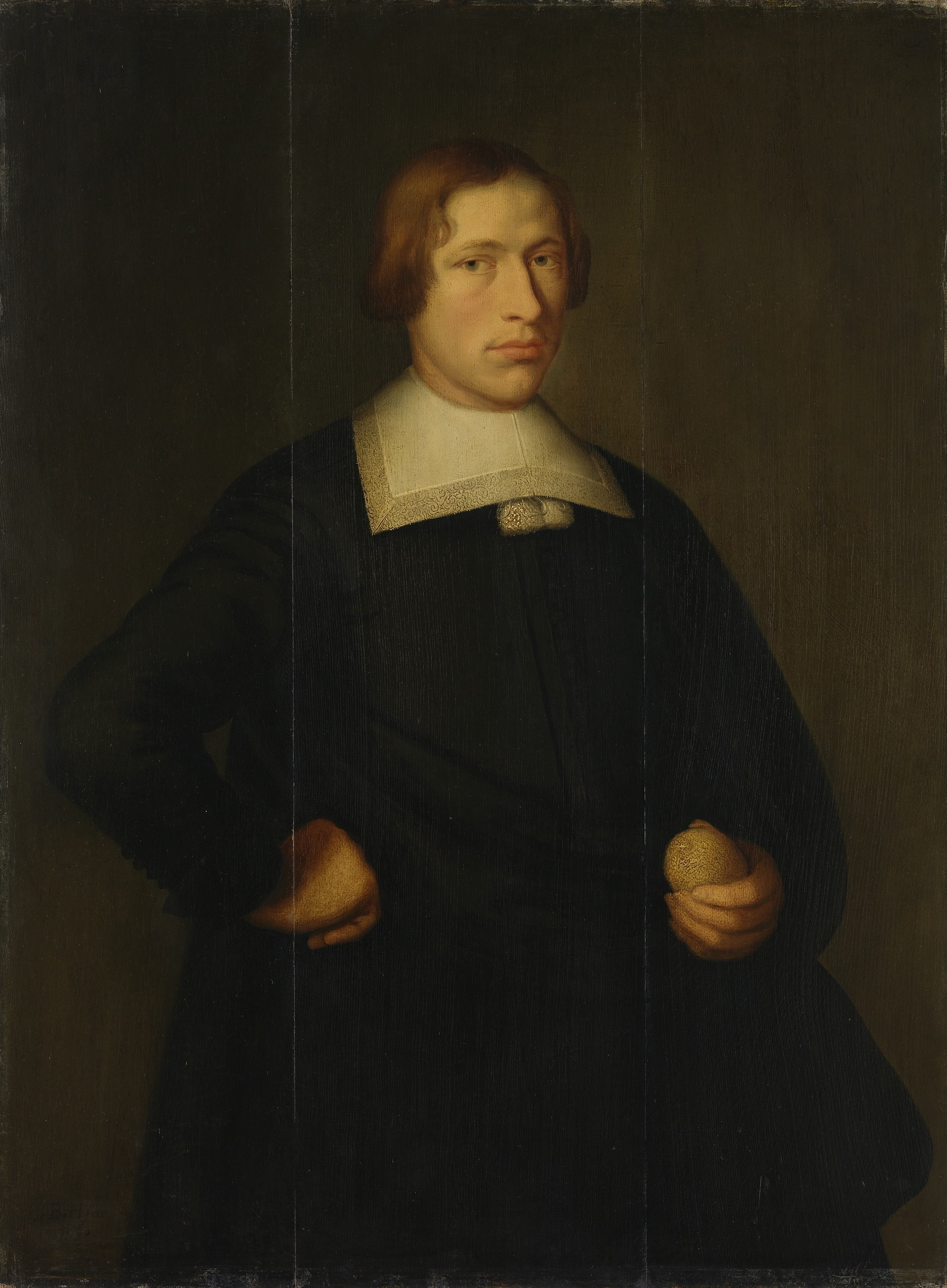 Monogrammist B.v.H. (probably Bartholomeus van der Helst), <em>Portrait of a Young Man with a Lemon</em>, 1660 Bayerische Staatsgemäldesammlungen, Munich