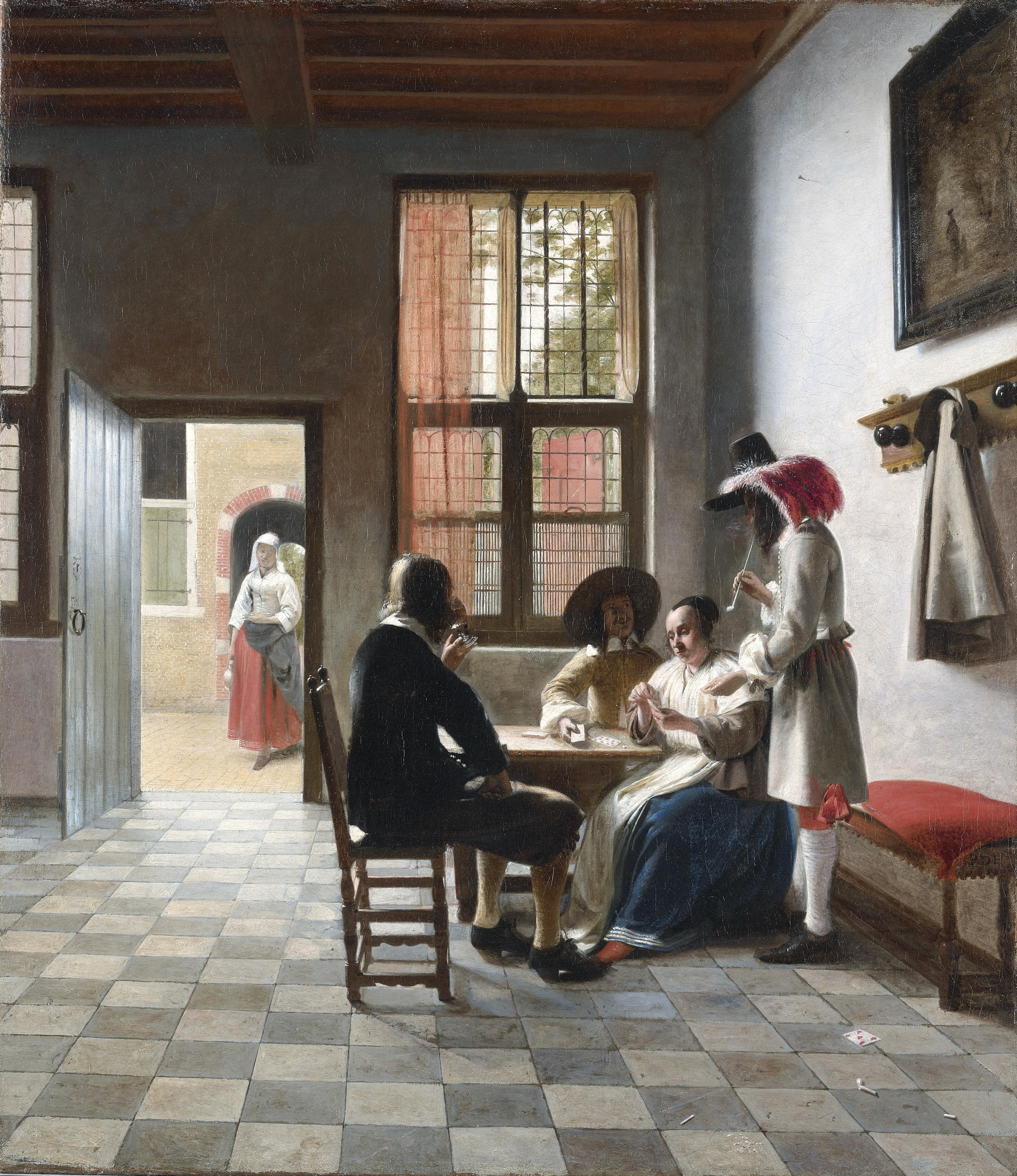 Pieter de Hooch (1629-1684), Cardplayers in a Sunlit Room, 1658 Royal Collection Trust, London