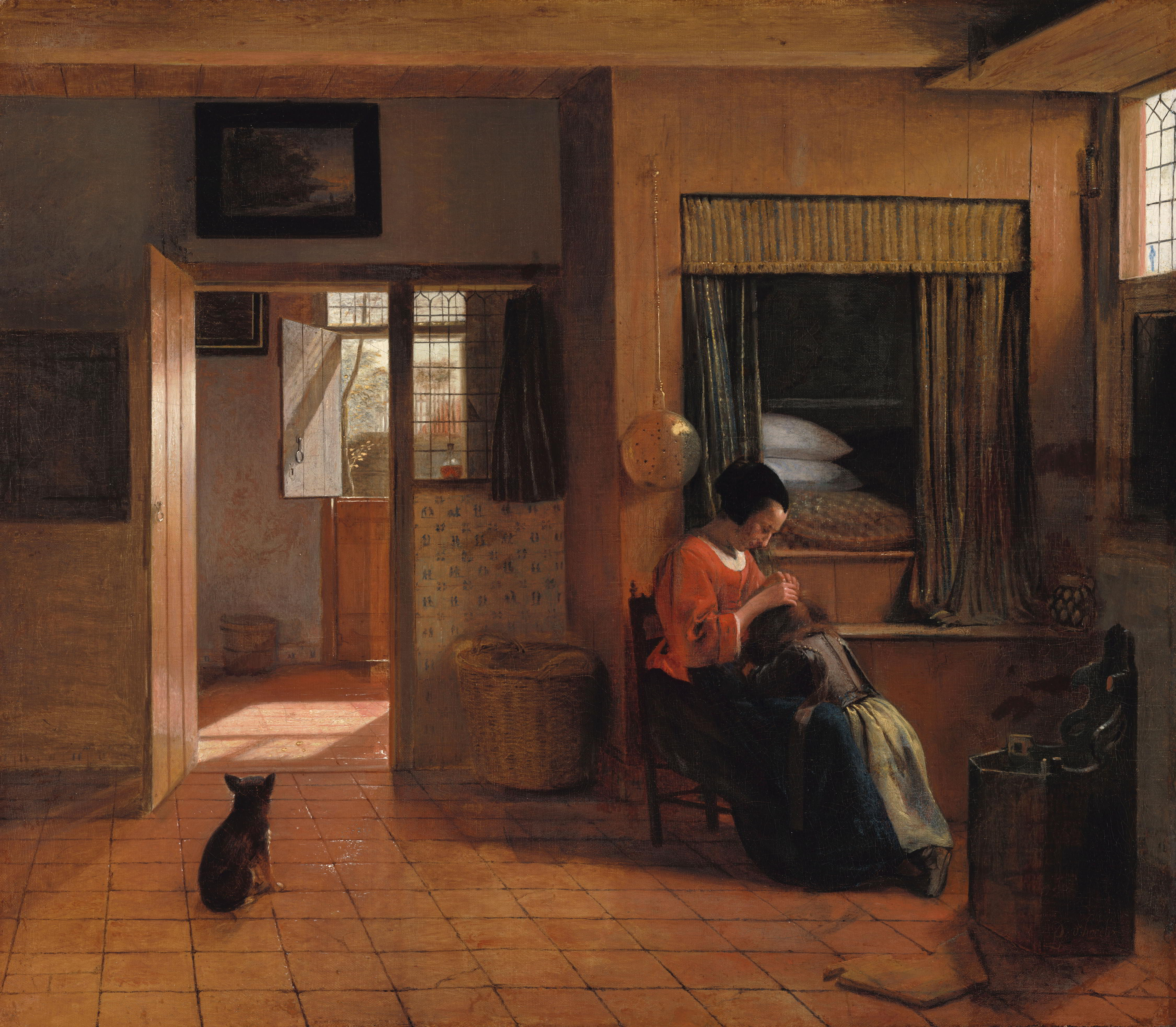Pieter de Hooch (1629-1684), A Mother Delousing her Child's Hair, Known as 'A Mother's Duty', ca. 1658-60 Rijksmuseum, Amsterdam